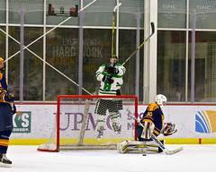 Jumping goal celebration3 (R.A. Killmer) Tags: white west green ice hockey rock virginia goal shoot shot score slippery