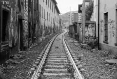 E' severamente vietato introdursi nella sede ferroviaria... (sirio174 (anche su Lomography)) Tags: como train railway murales treno ferrovia binari divieto rotaie comolago comoborghi sedeferroviaria