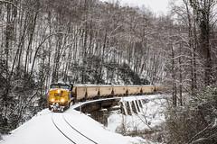 Snow on Hickory Creek (Peyton Gupton) Tags: railroad snow train sub rail railway trains polarexpress peyton kd morley csx habersham gupton csxt chaska