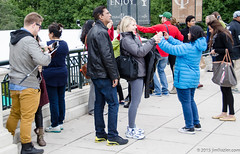 A Selfie Festival (Jim Frazier) Tags: park autumn people chicago fall illinois october photographer bean tourists il cameras registered millenniumpark cloudgate phones cellphones selfie 2015 jimfraziercom selfiesticks 20151003chicago selfiesatthebean