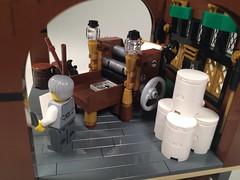 - Right side view (Vedauwoo) Tags: newspaper lego report printing press bastion bobs moc cowlug otchet