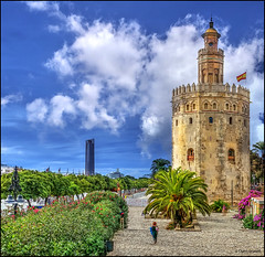 (2219) La Torre del Oro (QuimG) Tags: architecture landscape sevilla andaluca spain sony paisaje paisatge latorredeloro specialtouch quimg quimgranell joaquimgranell afcastell obresdart xtrmhdr