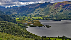 view into Borrowdale (yorkiemimi) Tags: england sky mountain lake green nature landscape scenery heather explore valley cumbria derwentwater