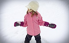 Evie in the Snow (pete4ducks) Tags: evie evangeline snow child girl kid pink winter on1photos 2014 on1pics beaverton oregon