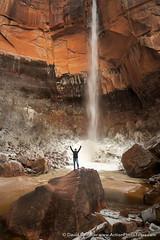 Upper Emerald Pool (David Swindler (ActionPhotoTours.com)) Tags: pool utah waterfall canyon zion zionnationalpark emerald heaps emeraldpools