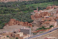 imgp4937 (Mr. Pi) Tags: city trees tower village minaret mosque hills oasis morocco agriculture derelict kasbah tinghir highatlas