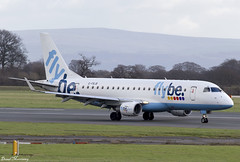 Flybe ERJ-175 G-FBJB (birrlad) Tags: uk england italy man milan airplane manchester airport ramp taxi aircraft aviation airplanes terminal apron landing international airline arrival airways airlines runway landed airliner embraer arriving taxiway flybe e175 erj175 gfbjb