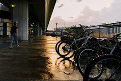 DSC00514 (drumbunkerdragon) Tags: street sunset shadow orange reflection bike bicycle clouds photography singapore track skies sony 28mm ground ii f2 fe mrt a7s