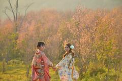 Phu lom lo sakura Thailand (SaravutWhanset) Tags: travel flower girl japan asian thailand asia outdoor traditional thai twopeople mountian takecare sukura