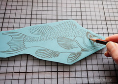 carving_a_fish_stamp4735.jpg (KristinaMariaS) Tags: printing stempel stampcarving handcarvedstamp drucken stempeln amliebstenbunt kristinaschaper