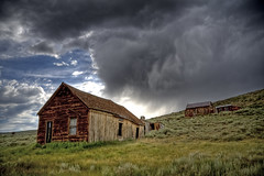 Bodie Ghost Town Storm (TeamWoodlawn) Tags: california copyright usa nature canon landscape photo ghosttown 2009 hdr allrightsreserved stormclouds easternsierras bodiehistoricstatepark 40d photographersnaturecom davetoussaint davetoussaintcom