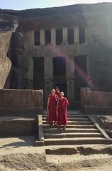 Monks at the caves (_quasi) Tags: india buddhist buddhism caves monks maharashtra kanhericaves