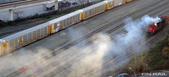 CN Steam Power! (BCOL CCCP) Tags: canada broken cn bc railway burning oil newwestminster cccp cnr cnrail bcol cn2014