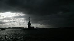 MTaB3 (ekremhatipoglu) Tags: sea sky cloud black silhouette turkey landscape outdoor istanbul bosphorus maidenstower