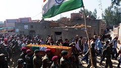 JIND: Body of martyr Captain Pawan Kumar being taken for cremation at Bdhana village (Jind) who laid down his life while fighting with militants holed up inside a government building in Pumpore in Jammu and Kashmir on Monday. (legend_news) Tags: life india building up for village with body who being taken down captain his government while inside kashmir martyr monday fighting jammu laid cremation militants kumar haryana pawan holed jind bdhana pumpore