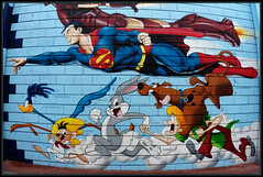 Edge (Gramgroum) Tags: coyote street paris bunny art saint graffiti ironman bugs superman beep edge bd edouard puces ouen scoubidou scarfoglio