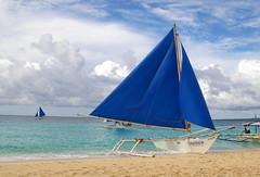 Sailing Boat (Paraw), Puka Beach, Boracay, Western Visayas, Philippines (Darius Travel Photography) Tags: pentax philippines boracay filipinas pilipinas boracayisland    pentaxk100dsuper   filipinai