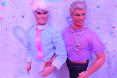 Heart day (Vuffy VonHoof) Tags: bear gay man color cute men love girl photography colorful doll neon dolls pastel ken barbie skipper funky 80s 90s