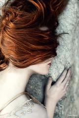 Lost ({jessica drossin}) Tags: sleeping portrait woman girl rock stone female hair eyes pale redhead covered freckles redhair jessicadrossin wwwjessicadrossincom jdbeautifulworldcollection