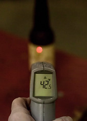 How Cold is My Beer (Sjensen~) Tags: beer infrared laser thermometer goldenlitesummerale