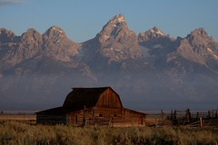 IMG_6286 Moulton Barn (Ron_3) Tags: wood mountain barn sunrise landscape outdoor peak moose row canyon jackson historic mountainside wyoming teton range morman wy mountainpeak antelopeflats ronmckenzie