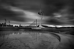 (Jona Mago) Tags: barcelona longexposure sky espaa water clouds spain agua catalonia cielo nubes catalua montjuic largaexposicin torrecalatrava hitechfilters hitechproirnd10stops
