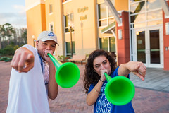 Campus February 2016 068 (FGCU | University Marketing & Communications) Tags: students horns fgcu southvillage vuvuzela sovi photocreditjamesjgreco floridagulfcoastuniversity