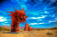Sand Serpent in the Sun (Michael F. Nyiri) Tags: california sculpture art desert anzaborrego southerncalifornia metalsculpture temeculacalifornia ricardobreceda