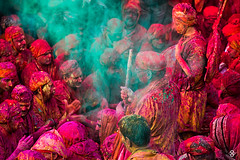 'Colors Of Joy' (subodh shetty) Tags: travel people colors festival photography nikon dubai god vibrant religion perspective culture documentary vivid places lord devotion nikkor krishna holi prayers barsana brij shetty mathura vrindavan bhoomi subodh sabha nandgaon nikonasia beleifs iamnikkor nikonmea