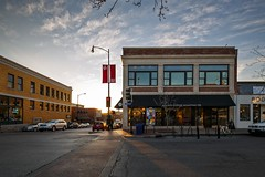 Ninth Street Sunset (Notley) Tags: street city sunset sky architecture clouds buildings downtown outdoor dusk columbia missouri february ninthst columbiamissouri 2016 bocomo kaldis ninthstreet 10thavenue dxoopticspro notley boonecountymissouri kaldiscoffee notleyhawkins missouriphotography httpwwwnotleyhawkinscom notleyhawkinsphotography boonebounty downtowncolumbiamissouri alleyarealestate