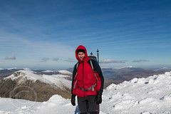 Lake District Feb 2016 (2) 362 - On the summit of Sca Fell Pike on a stunning winters day - England's highest point - Me minus camera (Mark Schofield @ JB Schofield) Tags: winter england sky cliff brown lake snow mountains green english ice water rock high allen path top district sca piers great lakes scenic peak hills ill national bow cumbria fells trust end summit moors pike broad gill tarn crags base fell cairn gable hause wast wasdale esk ghyll seathwaite honister lingmell styhead glaramara stonethwaite mountainspark branstree