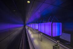 U-Bahnstation (Underground station) (hph46) Tags: station germany underground deutschland hamburg illumination u4 beleuchtung hafencityuniversitt sonyflickraward