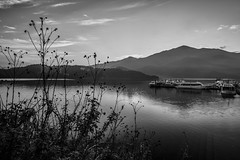 Sun Moon Lake,Nantou,Taiwan (Eddy Tsai) Tags: bridge light sunset sky sun moon lake water clouds sunrise fantastic taiwan coastal galaxy                      taiwan