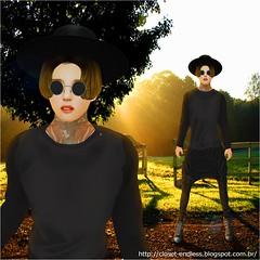 Closet-Endless  #24 (Brun'Style) Tags: black hat sunglasses shirt hair shoes pants tenis japones camisa oculos blusa chapeu syn kpop calça asiatico cabeço