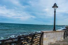 Lungomare. (Alessandro Photo - ALPH) Tags: sea italy beach faro italia mare burrasca puglia spiaggia bari forte vento scogli maestrale schiuma litorale bagnasciuga palese