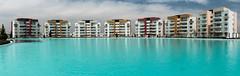 Blue Lagoons (B.e.D) Tags: trip travel viaje canon buildings mexico bed edificios lagoon laguna panograph panografa