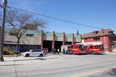 Toronto Fire 426 (theharv58) Tags: lightandshadows doors photographers painters catwalk graffitiart canon60d artinvariousforms canoneos60d canonefs18200mmislens bonsaiart torontofirestation426 canonefs18200mm13556islens topwpkdl topwpkdltorontophotowalkparkdale thebravesoulsoftorontofire426