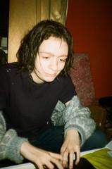 37160034 (milestibaja) Tags: red black love hairdye dark room emo dye smthing