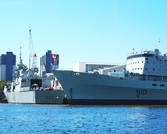 HMCShips PRESERVER and FREDERICTON (Roger Litwiller -Author/Artist) Tags: navy royal canadian fredericton halifax preserver hmcs rcn