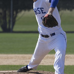 """<b>Luther Baseball vs. Simpson</b><br/> Baseball vs. Simpson on Friday April 15, 2016. Photo by: Annie Goodroad '19<a href=""""http://farm2.static.flickr.com/1472/25920689744_58d5beb605_o.jpg"""" title=""""High res"""">∝</a>"""