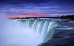 Niagara falls Canadian site (3dRabbit) Tags: ocean morning pink blue sky usa sun ny toronto canada cold tree fall water sunrise canon landscape waterfall big buffalo outdoor dramatic wave drop niagara falls shore huge epic 1635mm sungjinahn