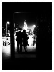 looking for direction (zzra) Tags: door city white black contrast dark la los key noir angeles low noise