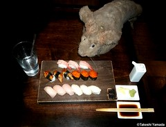 Dr. Takeshi Yamada and Seara (Coney Island Sea Rabbit) at Shogun Japanese buffet restaurant in Brooklyn, NY on May 12, 2015. (non-traditional Janese food textures & flavors. non-traditional serving plates.) 20150512 091=1020. 15 sushi (searabbits23) Tags: ny newyork sexy celebrity rabbit art hat fashion animal brooklyn sushi asian coneyisland japanese star restaurant tv google king artist dragon god manhattan famous gothic goth uma ufo pop taxidermy vogue cnn tuxedo bikini tophat unitednations playboy entertainer oddities genius mermaid amc mardigras salvadordali performer unicorn billclinton seamonster billgates aol vangogh curiosities sideshow jeffkoons globalwarming mart magician takashimurakami pablopicasso steampunk damienhirst cryptozoology freakshow seara immortalized takeshiyamada roguetaxidermy searabbit barrackobama ladygaga climategate  manwithrabbit