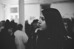 (Kathleen Vtr) Tags: vienna portrait bw white black film me face silhouette night analog self 35mm person evening blackwhite kodak bokeh grain explore canonae1 profil filmphotography