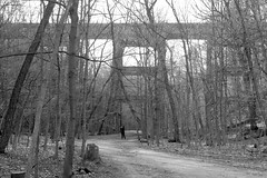 007strfacaconfwl (citatus) Tags: park bridge woman toronto canada spring afternoon phone pentax picture cell railway moore ii ravine k3 2016