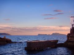 Pontile (Diego Zarulli) Tags: sunset sea italy tramonto mare calm napoli naples pontile gaiola quiete