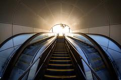 Light in tunnel (Hkan Dahlstrm) Tags: travel station architecture copenhagen denmark photography escalator central f10 staircase dk 8mm uncropped danmark kbenhavn 2016 kpenhamn kbenhavnv xe2 118sek 1301052016103457