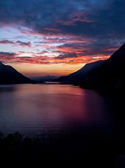 Tramonto sul Triangolo Lariano (LaBi_LauraBindaPhotoGraphics) Tags: italy lake como sunrise lago tramonto bellavista ita comolake lario nesso pognana triangololariano