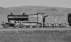 7F at speed (DaveStubbings) Tags: blackandwhite heritage railway somerset steam sd castlehill steamengine steamrailway preservation steamtrain steamlocomotive wsr 7f westsomersetrailway preservedrailway williton somersetanddorset 53809 heritagerailway