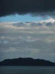 Gathering cloud (Fraser P) Tags: sea newzealand beach weather cafe harbour wellington petone lowerhutt